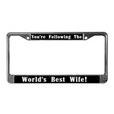 World's Best Wife License Plate Frame
