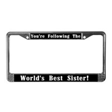 World's Best Sister License Plate Frame