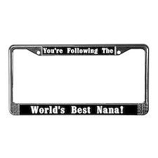World's Best Nana License Plate Frame