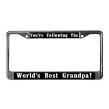 World's Best Grandpa License Plate Frame