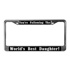 World's Best Daughter License Plate Frame