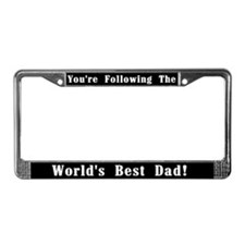 World's Best Dad License Plate Frame