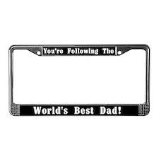 World's Best Dad License Plate Frame