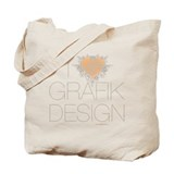 I Heart Graphic Design (Canvas Tote Bag)