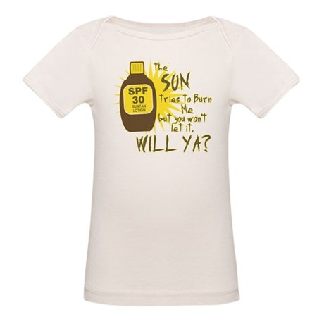 The Sun Tries to Burn Me Organic Baby T-Shirt