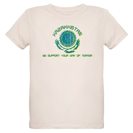 Kazakhstan - We Support Your Organic Kids T-Shirt