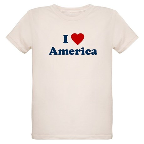 I Love [Heart] America Organic Kids T-Shirt
