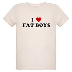 I Love [Heart] Fat Boys Organic Kids T-Shirt