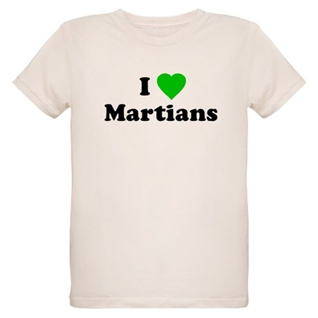 I Love Martians Organic Kids T-Shirt