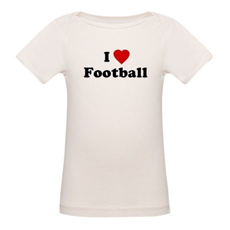 I Love [Heart] Football Organic Baby T-Shirt
