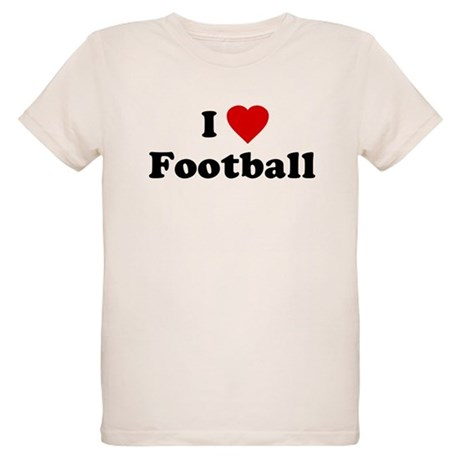 I Love [Heart] Football Organic Kids T-Shirt