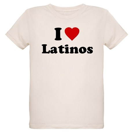 I Love [Heart] Latinos Organic Kids T-Shirt