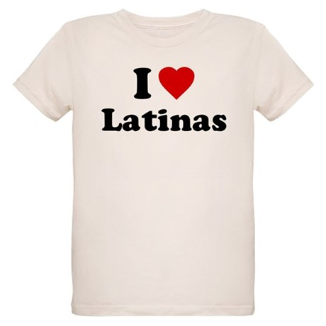 I Love [Heart] Latinas Organic Kids T-Shirt