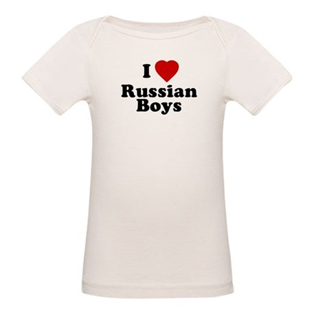 I Love Russian Boys Organic Baby T-Shirt