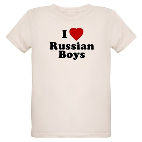 I Love Russian Boys Organic Kids T-Shirt