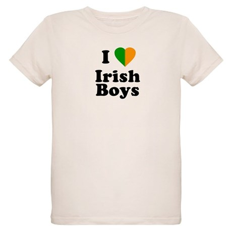 I Love Irish Boys Organic Kids T-Shirt