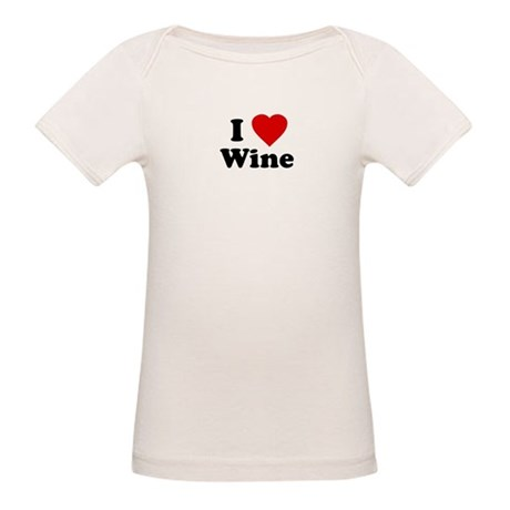 I Love [Heart] Wine Organic Baby T-Shirt