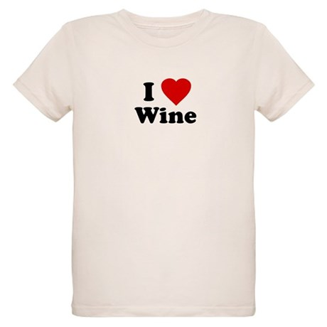 I Love [Heart] Wine Organic Kids T-Shirt