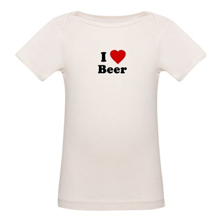 I Love [Heart] Beer Organic Baby T-Shirt