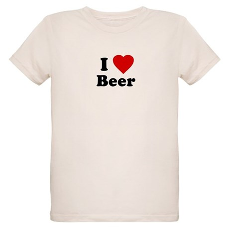 I Love [Heart] Beer Organic Kids T-Shirt