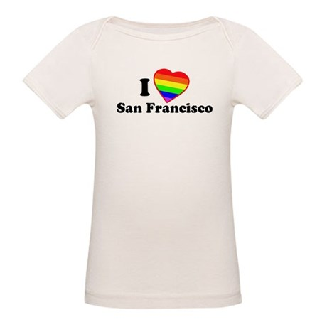 I Love [Heart] San Francisco Organic Baby T-Shirt