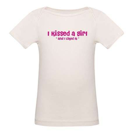I Kissed a Girl Organic Baby T-Shirt