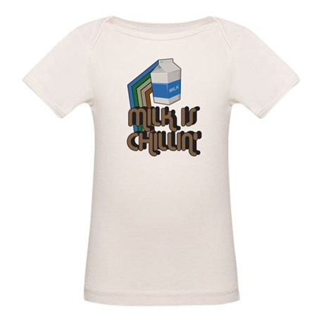 Milk is Chillin' Organic Baby T-Shirt