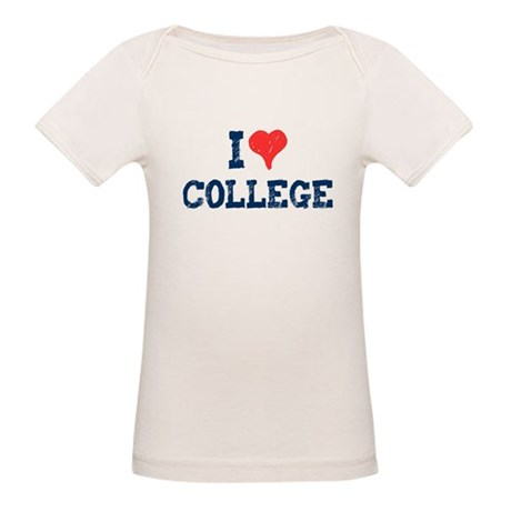 I Love College Organic Baby T-Shirt