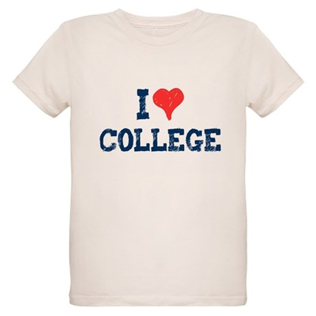 I Love College Organic Kids T-Shirt