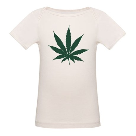 Cannabis Leaf Organic Baby T-Shirt
