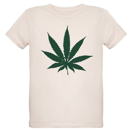 Cannabis Leaf Organic Kids T-Shirt