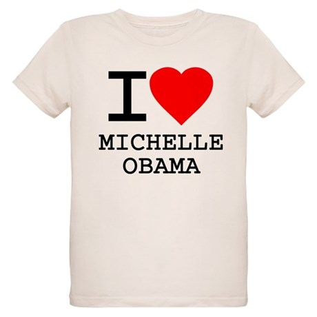 I Love Michelle Obama Organic Kids T-Shirt