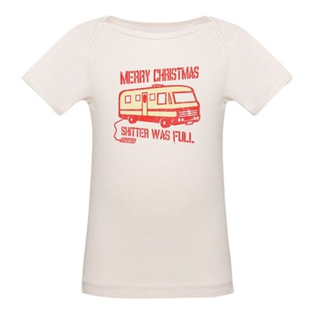 Merry Christmas, Shitter Was Organic Baby T-Shirt