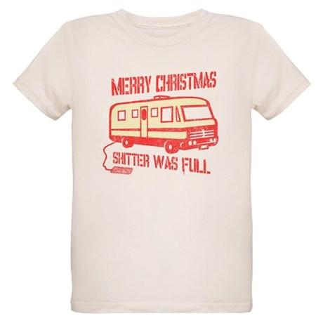 Merry Christmas, Shitter Was Organic Kids T-Shirt