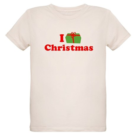 I Love [Present] Christmas Organic Kids T-Shirt