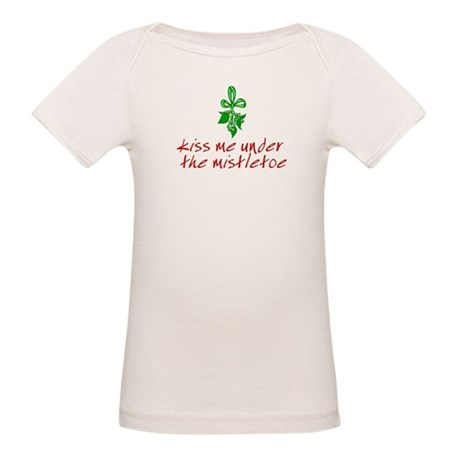 Kiss me under the mistletoe Organic Baby T-Shirt