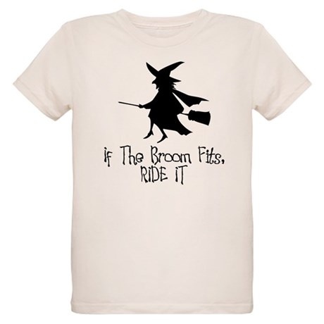 If the Broom Fits Organic Kids T-Shirt