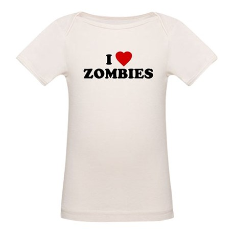 I Love [Heart] Zombies Organic Baby T-Shirt