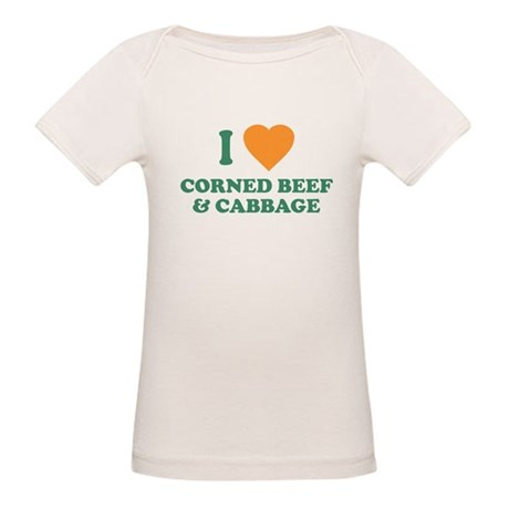 I Love Corned Beef & Cabbage Organic Baby T-Shirt