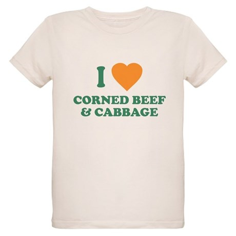 I Love Corned Beef & Cabbage Organic Kids T-Shirt