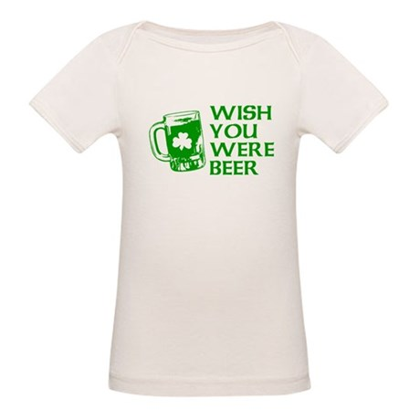 Wish You Were Beer Organic Baby T-Shirt