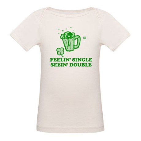 Feelin' Single Seein' Double Organic Baby T-Shirt