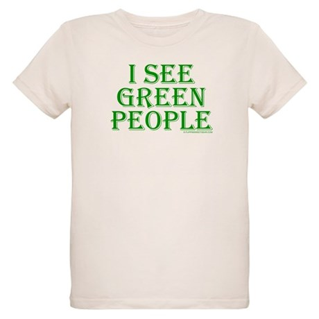 I see green people Organic Kids T-Shirt