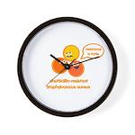 MRSA Wall Clock