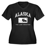 Alaska Women's Plus Size V-Neck Dark T-Shirt