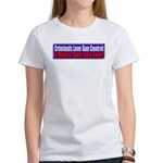 Criminals & Gun Control Women's T-Shirt