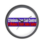 Criminals & Gun Control Wall Clock