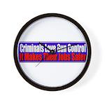 Criminals & Gun Control Wall Clock