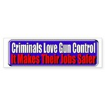 Criminals & Gun Control Bumper Sticker (50 pk)