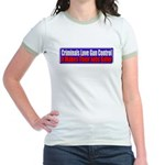 Criminals & Gun Control Jr. Ringer T-Shirt